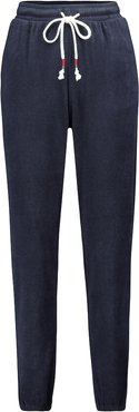 Florencia cotton-blend terry trackpants