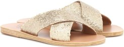 Thais sequined leather slides