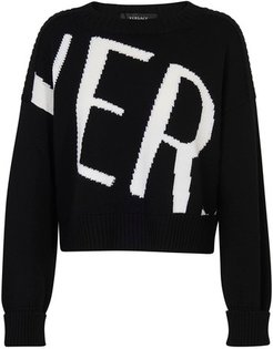 logo long sleeve sweater