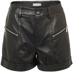 Lia leather shorts