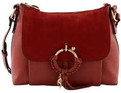 Leather and suede Joan shoulder bag