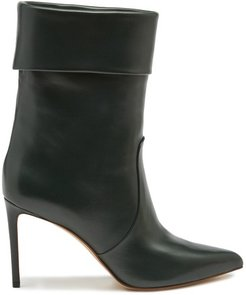 Slouchy leather ankle boots