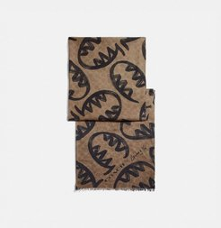 Signature Scarf With Rexy By Guang Yu - Women's