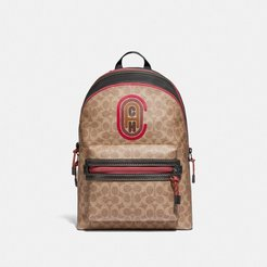 Academy Backpack In Signature Canvas With Patch - Men's