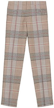 Wool Check Trouser in Neutral,Plaid