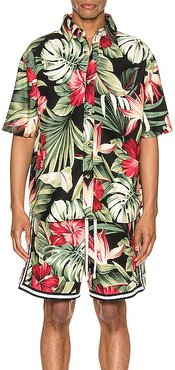 Kailo Short Sleeve Shirt in Black,Floral,Tropical