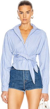 Emmerson Striped Shirt in Blue,Stripes