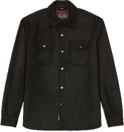 CPO Wool Shirt in Black