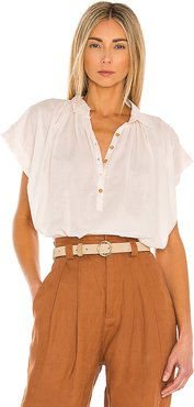 Max Cotton Top in Ivory. - size L (also in M, S, XS)