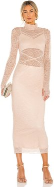 Lizzo Dress in Blush. - size L (also in M, S, XS)