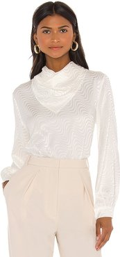 Grace Blouse in White. - size L (also in M, S)