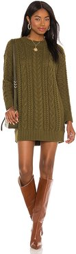 Lennie Cable Mini Dress in Army. - size M (also in S)