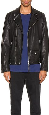 Milo Biker Jacket in Black. - size M (also in S, XL)