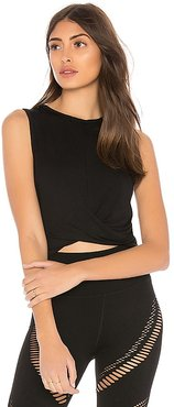 Cover Tank in Black. - size L (also in M, S, XS)