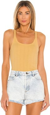 1975 Knit Tank in Yellow. - size L (also in M, S, XS)