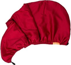 Charmeuse 2 Layer Turban in Ruby.