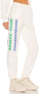 Sport Club Track Pant in White. - size L (also in M, S, XS)