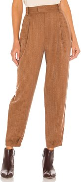 Twill Call Pant in Tan. - size 0 (also in 2, 4, 6)