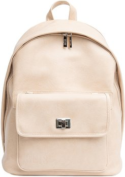 The Multi-Function Backpack in Beige.