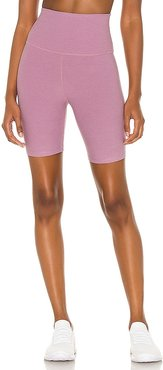 x REVOLVE Spacedye High Waisted Biker Short in Pink. - size L (also in M, S, XS)