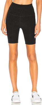 High Waisted Biker Short in Black. - size L (also in M, S, XS)