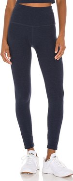 Spacedye Caught In The Midi High Waisted Legging in Navy. - size L (also in M, XS)
