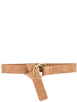 Tumble Suede Belt in Tan. - size M/L (also in S/M)