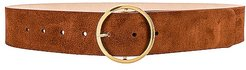 Molly Suede Belt in Cognac. - size L (also in M)