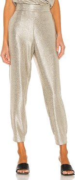 Rita Pull On Pant in Metallic Gold. - size S (also in XS)