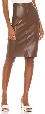 River Skirt in Brown. - size L (also in S, XS)
