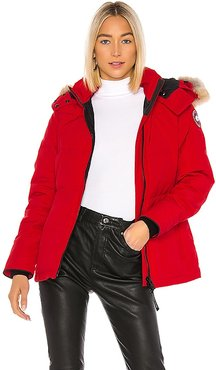 Chelsea Parka with Removable Fur Ruff in Red. - size L (also in S)