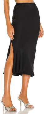 Slip Skirt in Black. - size L (also in M, S, XS)