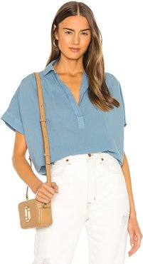 Motley Top in Blue. - size L (also in M, S, XS)