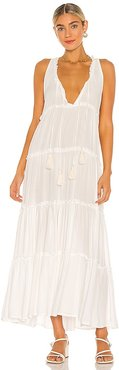 Everly Solid Dress in White. - size L (also in M, S, XS)