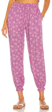 X REVOLVE Bodrum Springs Pant in Purple. - size L (also in M, S, XS)
