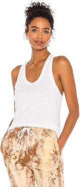 The Mykonos Racer Tank in White. - size L (also in M, S, XS)