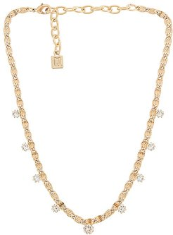 Audra Necklace in Metallic Gold.