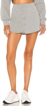 Fleece Button Skirt in Gray. - size L (also in M, S, XS)
