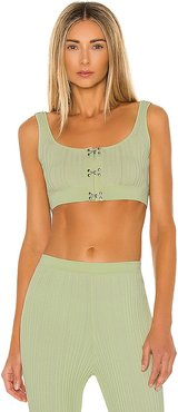 Hook Crop Top in Mint. - size L (also in M, S, XS)