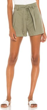 Lexi Pleated Short in Olive. - size 4 (also in 8)