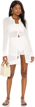 Elodie Tunic in White. - size L (also in M, S, XS)
