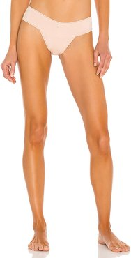 Pima Goddess Everyday V-Thong in Neutral. - size M/L (also in S/M, XS/S)