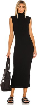 Sweater Knit Sleeveless Turtleneck Dress in Black. - size S (also in XS)