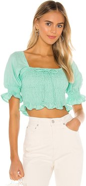 Lenora Top in Green. - size L (also in M, S)