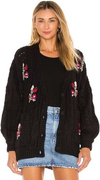 Amaryllis Button Down Cardigan in Black. - size M (also in S)