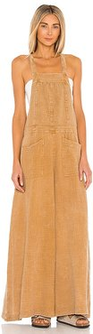 Cyprus Ave Overalls in Tan. - size L (also in M, S, XS)