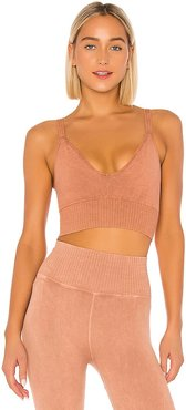X FP Movement Good Karma Crop Top in Tan. - size M/L (also in XS/S)