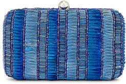 Andromeda Box Clutch in Blue.