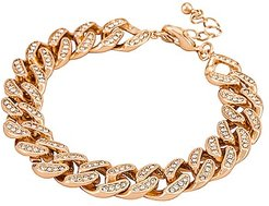 Stand Out Bracelet in Metallic Gold.