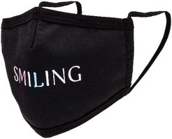 Smiling Face Mask in Black.